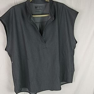 FIGS technical collection gray scrub top size xl